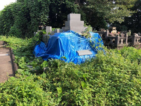 熊本地震により倒壊したお墓建て直し工事 あらき石材