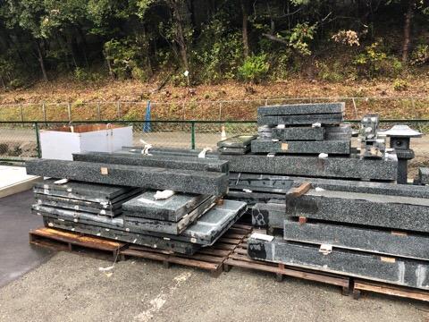 熊本地震で倒壊した、大きなお墓 移転改修工事 あらき石材