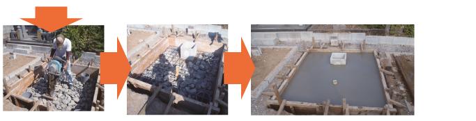 コンクリート支柱工法