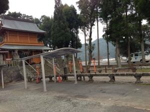 神社の工事