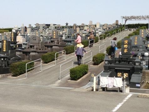 お彼岸の益城墓園