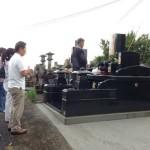 嘉島町で納骨式
