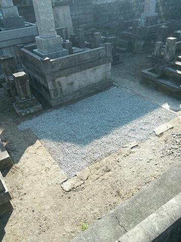 墓石の解体工事