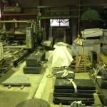 台風の日の工場