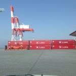 熊本港 荷物の確認