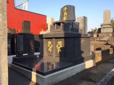 住宅地の中に墓地
