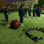 消防ポンプ操法の訓練