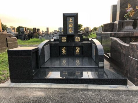 庵治石のお墓の完成確認!