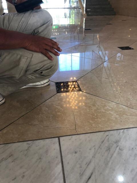 床石の補修工事