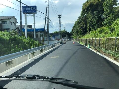 工場前の道が開通!