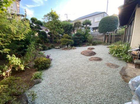 お庭の模様替え^ ^