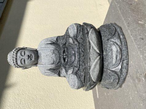 石の乾燥。