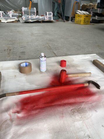 道具を塗り、新品のようになりました
