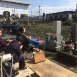 墓石移設の取り外し工事