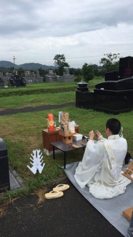 仏式の地鎮祭です