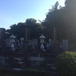 連結墓の建て直し工事