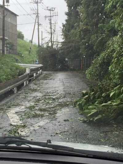 台風15号直撃!