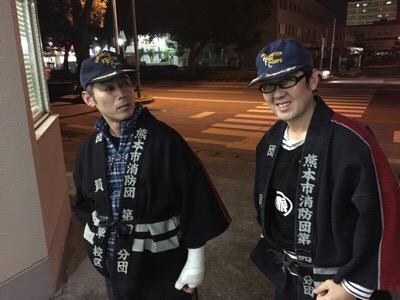 消防団の夜警