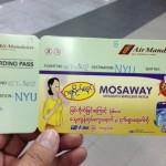 ミャンマーの飛行機での出来事