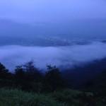 台風の前の日の雲海