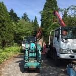 移設のための取り外し工事