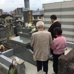 花岡山で納骨式